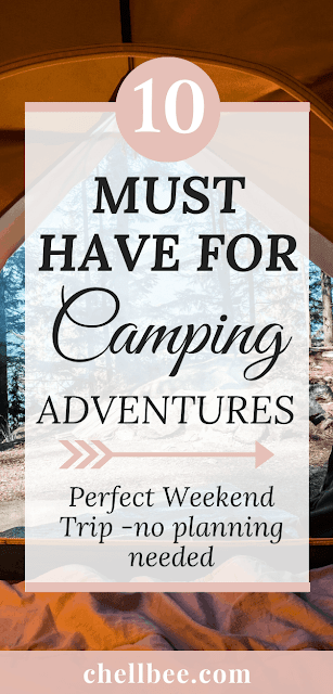 Camping outdoors |  Here are 10 things you will want to have with you to enjoy your time outdoors with you loved one. Want to go camping but need a simple, minimalist, budget-friendly packing list? camping hacks | camping ideas | budget friendly vacations | budget friendly for couples | camping beginners  #camping