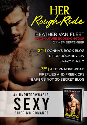 Her Rough Ride by Heather van Fleet, book 2 in the red dragons MC series.