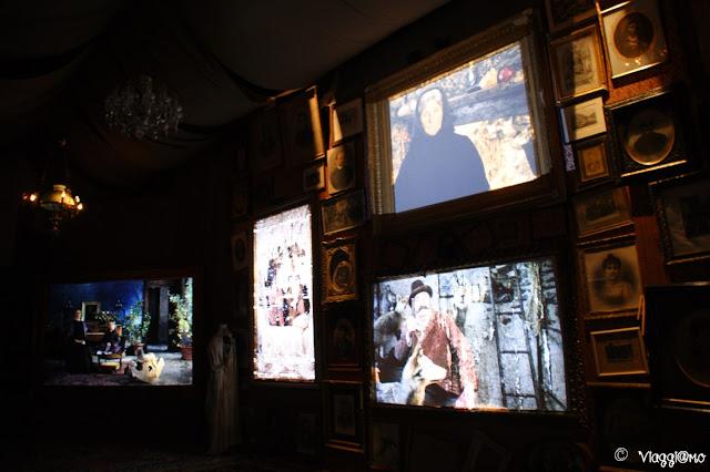 Stanza dei Ritratti nel centro espositivo Uomini e Lupi