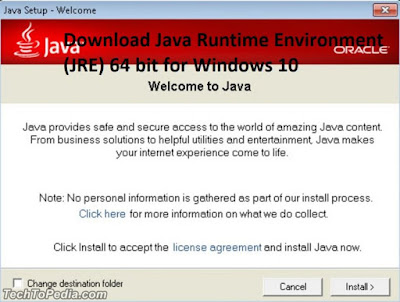 Download Java Runtime Environment (JRE) 64 bit for Windows 10