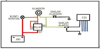 Rangkaian Alarm Sepeda Motor sederhana  Elektronik service Center l cara service tv