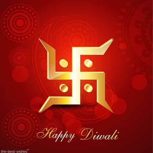 happy diwali with swastik