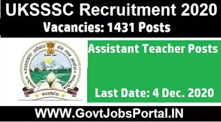 UKSSSC Assistant Teacher Vacancy 2020