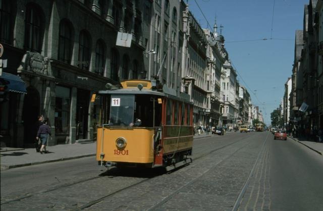 1996 год. Рига. Ретро-трамвай