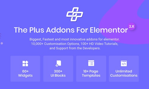 The Plus plugin NULLED–Addons for Elementor Page Designer
