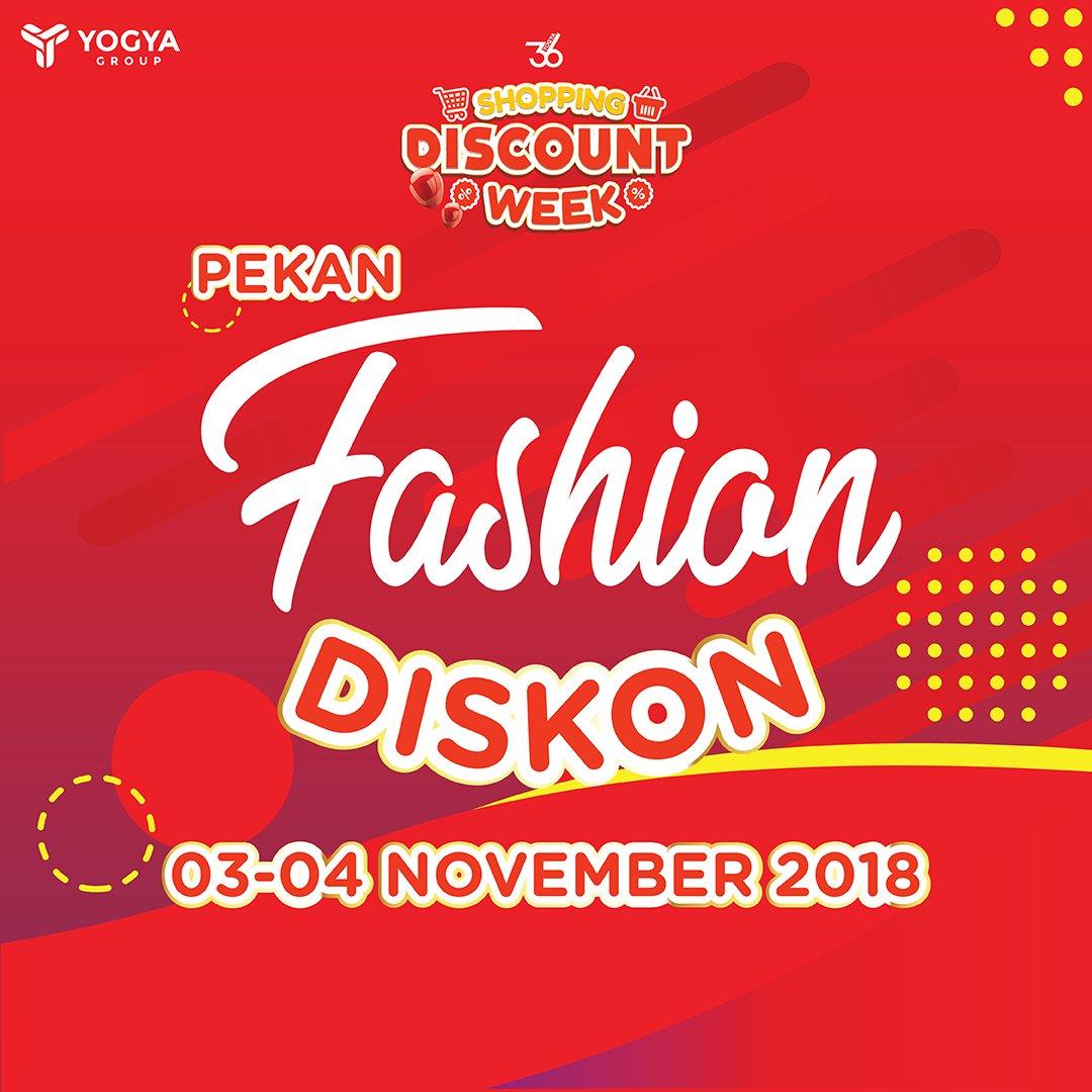 Yogya - Promo Shopping Pekan Fashion Diskon (s.d 4 November 2018)