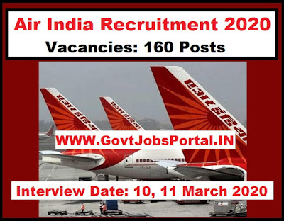 Air India Customer Agent Recruitment 2020  Air India Vacancy for 160 Posts