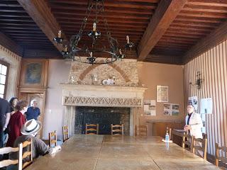 Château de Tonnoy - vue de l'intérieur