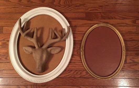 expressive style: DIY- Reindeer Door Decor