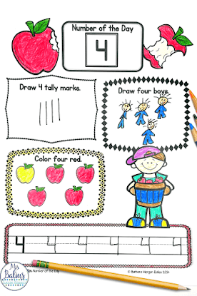 kindergarten Number of the Day will give students the practice they need to develop solid number sense skills