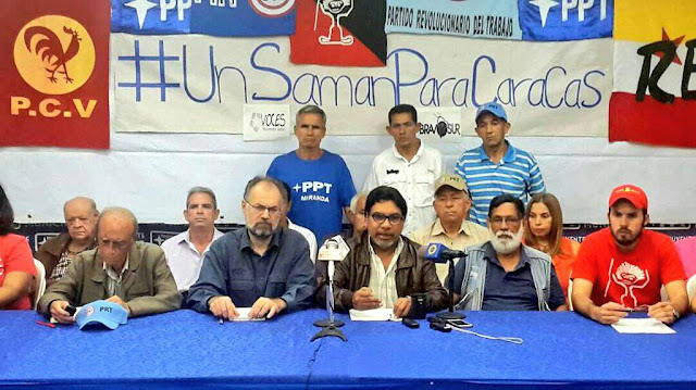 Frente Popular Antiimperialista y Antifascista brinda respaldo contundente a Eduardo Samán