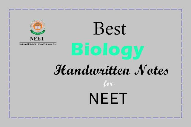 [PDF] Best Biology Handwritten Notes for NEET   Free PDF Download