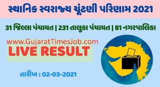 Gujarat Municipal Election Result 02.03.2021 | Gujarat Local Body Election Results 2021
