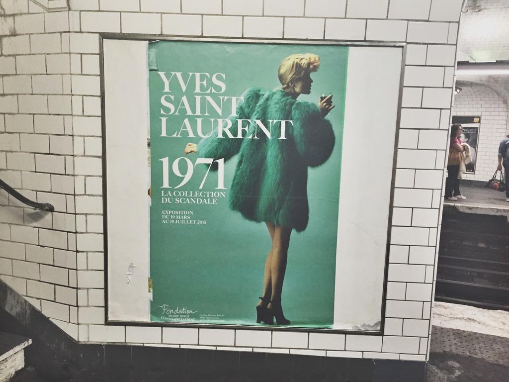 Yves Saint Laurent Paris Metro