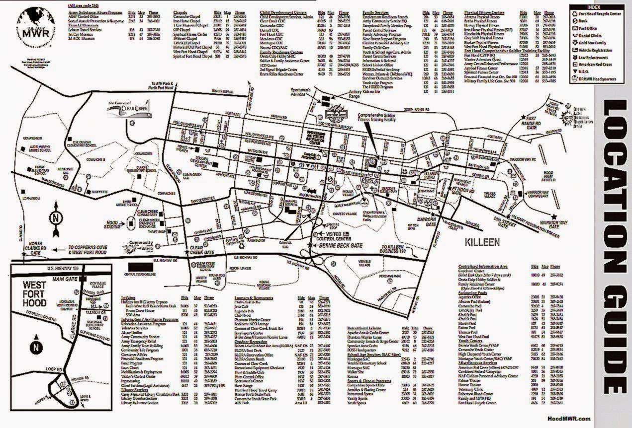 map fort hood