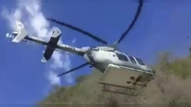 Helicópteros artillados intervienen se registran enfrentamientos en Tepalcatepec, Michoacán Cárteles Unido y Ejercito vs El JCNG