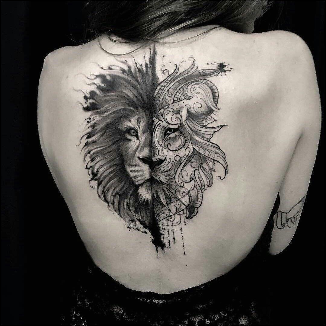 lion-tatouage féminin-6