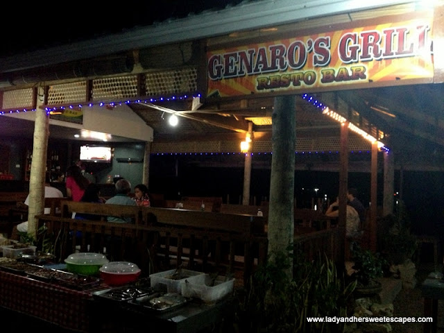 dining at Genaro's Grill Bohol
