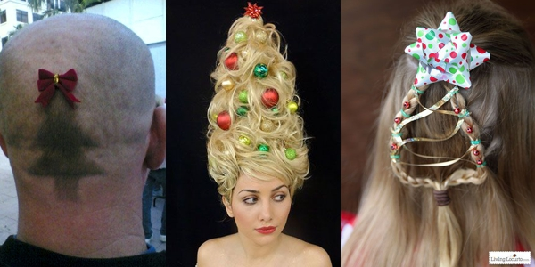 Sweet Funny Christmas Hairstyles