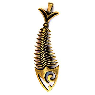 купить ювелирное украшение рыба бронза кулон скелет рыбы симферополь