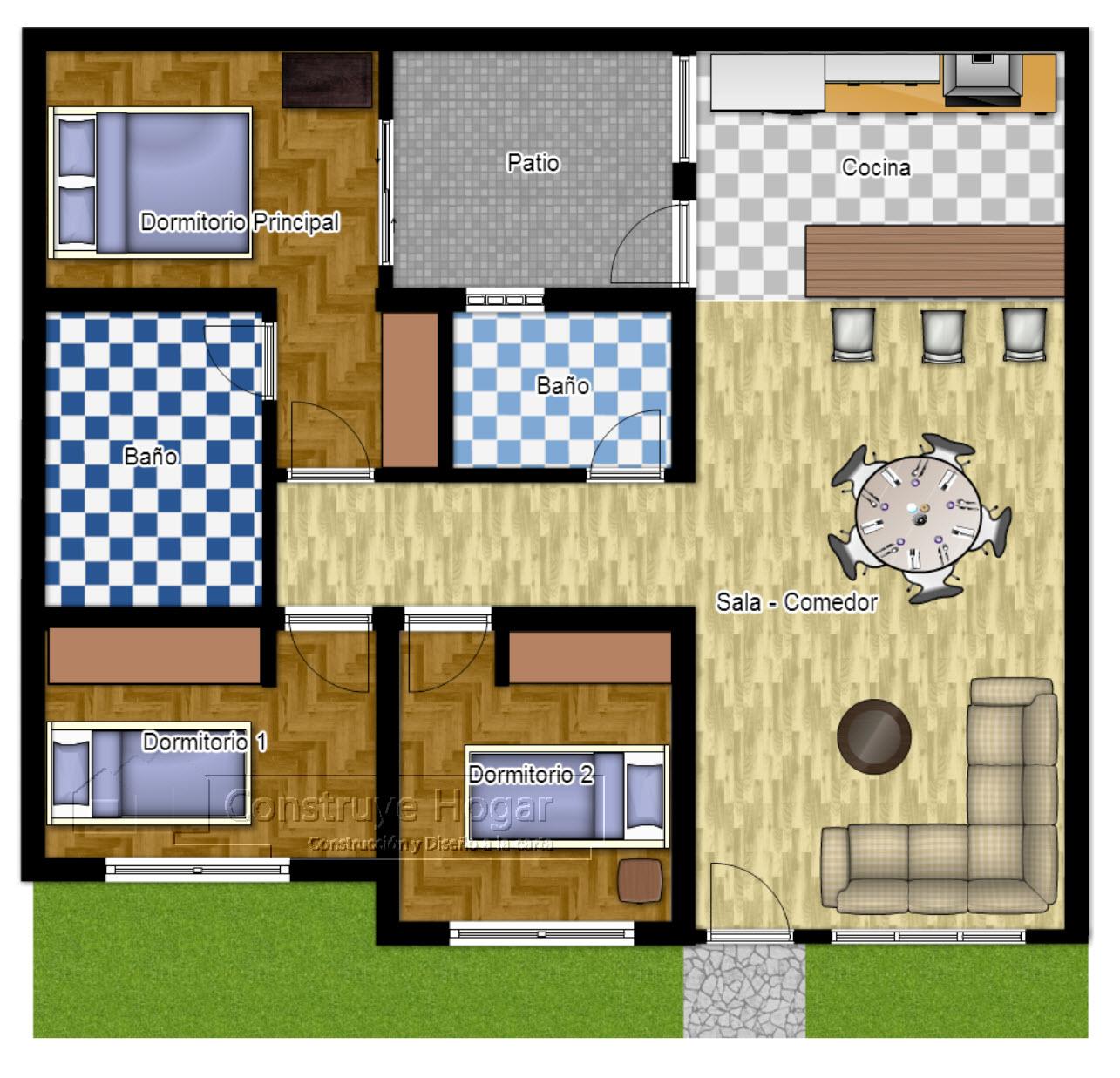 Rumah Minimalis Lantai 1 Kamar 4 Desain Modern Gambar