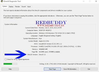 Find Current DirectX Version Number
