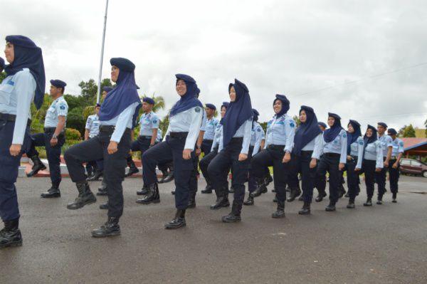 Penyegaran, Staf Lapas Watampone Latihan Peraturan Baris Berbaris
