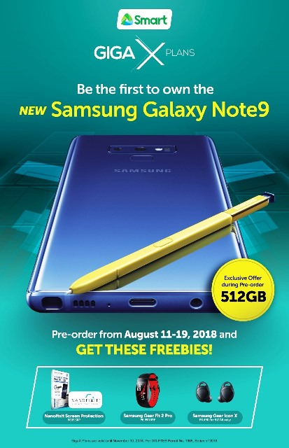 Smart's Samsung Galaxy Note9 Pre-order Promo