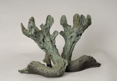 Pair of bronze andirons 28 cm h x 25 cm w, L's pick available via Garnier (be) as seen on linenandlavender.net