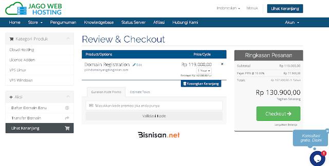 review pembelian nama domain