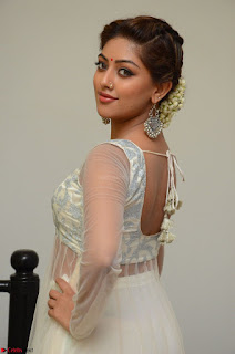 Anu Emmanuel in a Transparent White Choli Cream Ghagra Stunning Pics 020.JPG