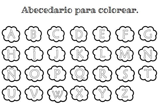Recursos para el aula de lengua: Abecedario para imprimir y colorear.