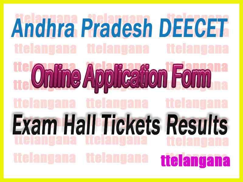 Andhra Pradesh DEECET Online Apply  Online Application Form Hall Tickets Results