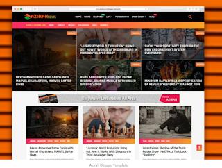 Goomsite Azirah Blogger Template