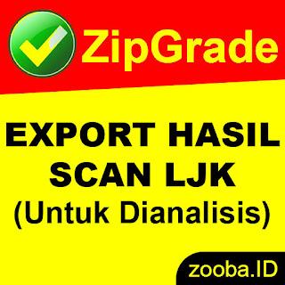 Cara Export Hasil Jawaban Scan LJK ZipGrade PDF atau CSV