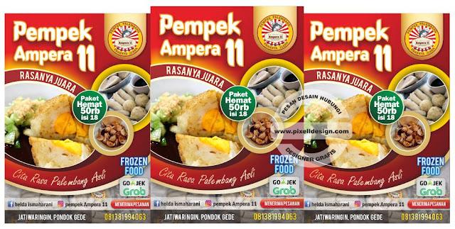 Iklan Brosur Promosi Makanan Beku