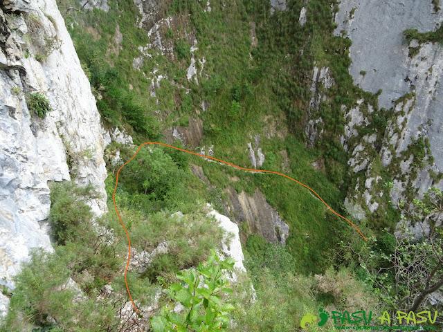 Canal de Reñinuevo: Sendero entre rocas
