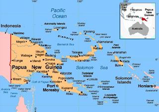 Peta Papua Nugini