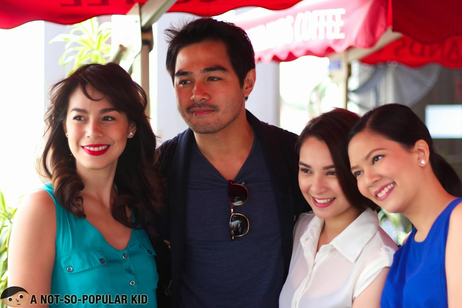 Bettinna Carlos, Benjamin Alvez, Ryza Cenon and Chynna Ortaleza