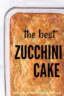 pan of zucchini cake