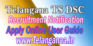 Telangana TS DSC TSDSC Recruitment Notification 2016 Apply Online User Guide