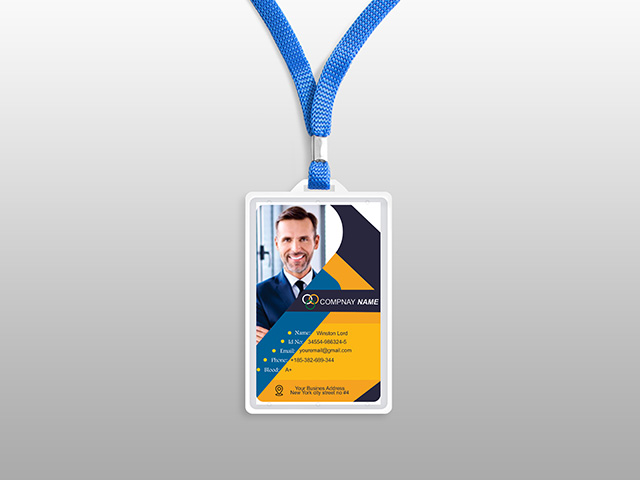 ID Card Design Free Vector Templates PSD & Cdr file Download