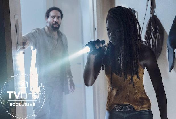 The Walking Dead  Michonne e Virgil estão desconfiados em foto inédita