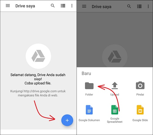 Cara Simpan Gambar / Video di Google Drive Dengan Mudah