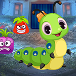 Games4King - Gleeful Caterpillar Escape