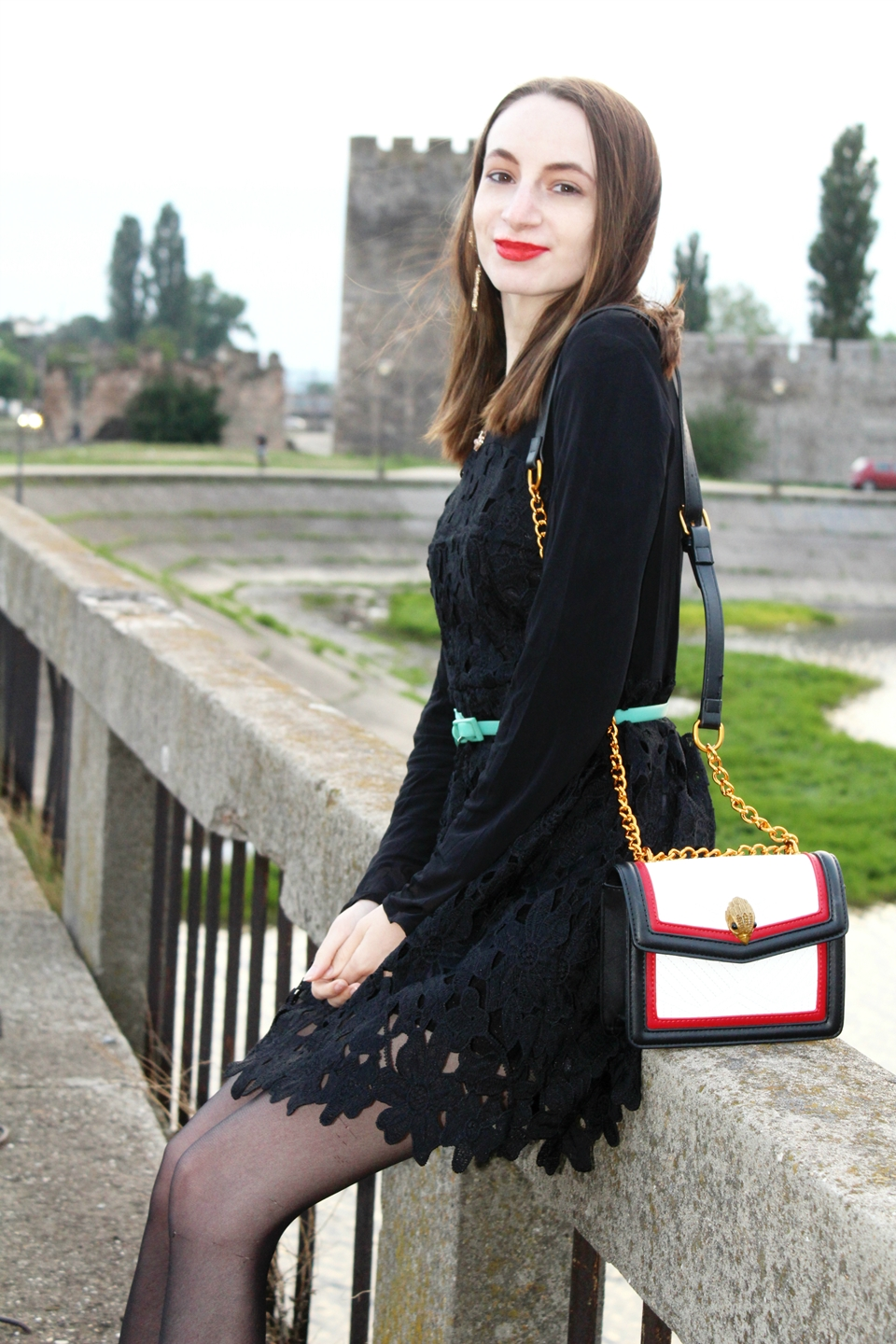 The Fashion Spell Little Black Lace Dress Outfit