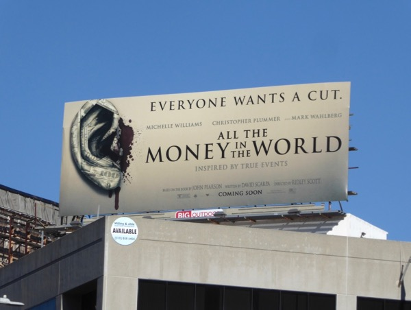 All the Money in the World movie billboard