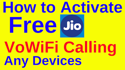 Jio Free Vo-WiFi Calling Trick for all Handset