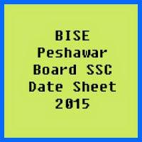 SSC Date Sheet 2017 BISE Peshawar Board
