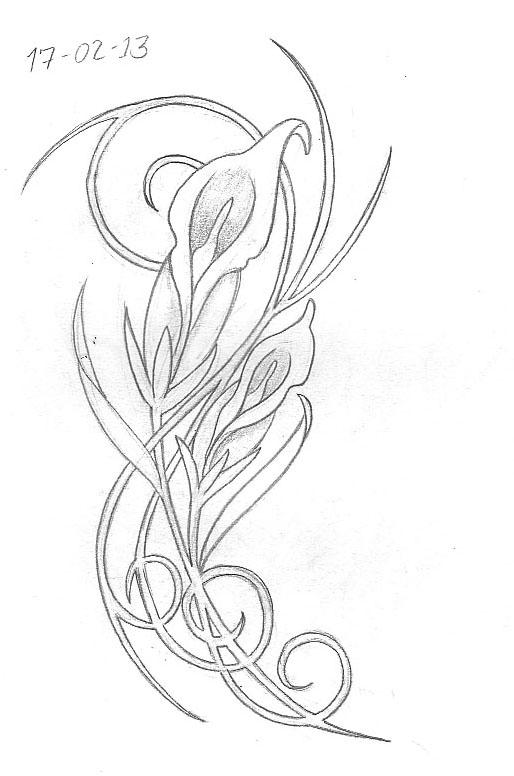 Art Nouveau Flower Tattoo: Tattoo Sketch A Day: February 2013